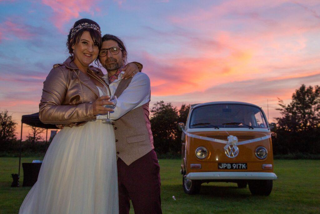 vw campervan wedding
