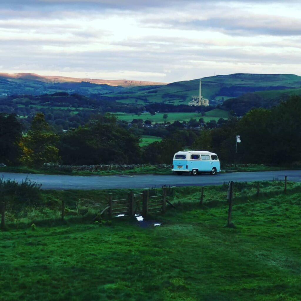 VW campervan in Derbyshire