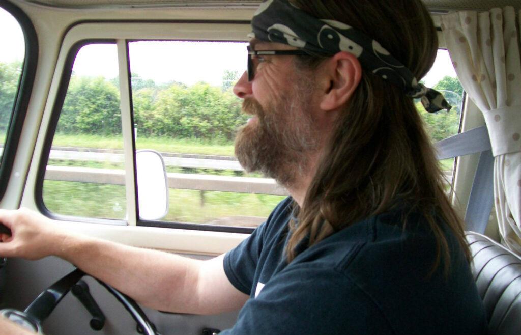 Dan Ellin drives VW campervan Betty